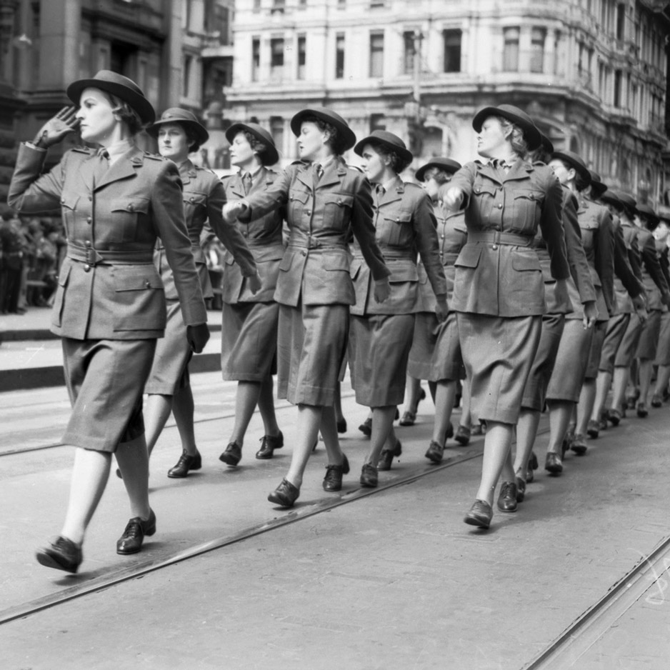 At Ease Women Marching